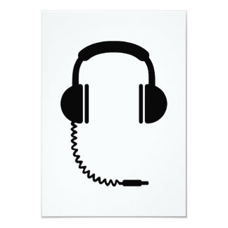 Headphones music sound invitations