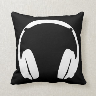 Headphones Pillow (Black & White)
