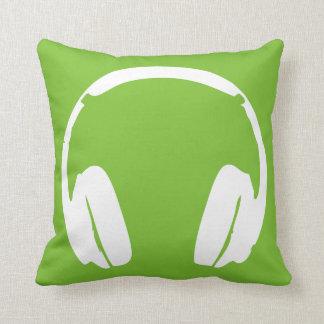 Headphones Pillow (Green/White)