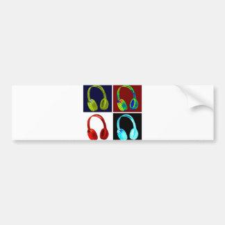 Headphones Pop Art Bumper Sticker