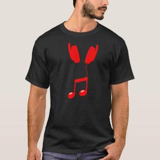 headphones red T-Shirt