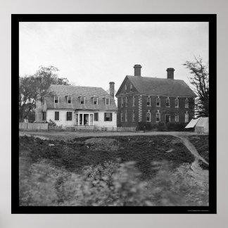 Headquarters of Lord Cornwallis near Yorktown 1864 Poster