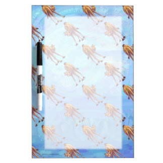 Heads and Tails Camel Pattern on Blue Dry Erase Board
