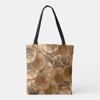 Heads and Tails Tote Bag All-Over Print