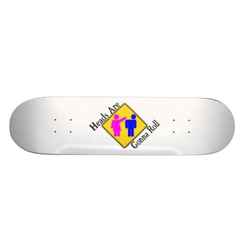 Heads Are Gonna Roll Custom Skate Board