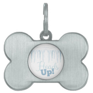 Heads Up Pet Name Tag