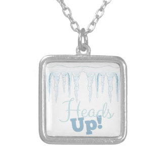Heads Up Silver Plated Necklace