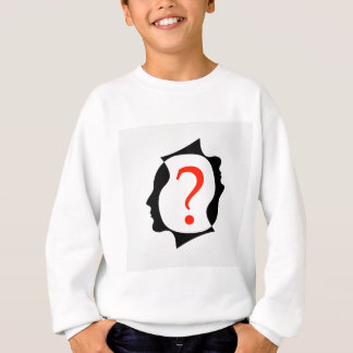 heads with a question mark sweatshirt