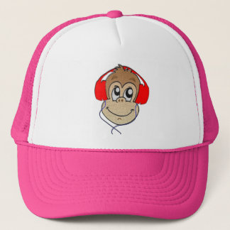 Headset monkey trucker hat