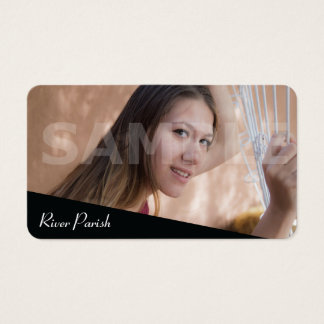 Headshot Actor Model or Poet Tree Business Cards