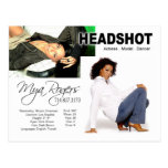Headshot for Model | Actor Post Cards