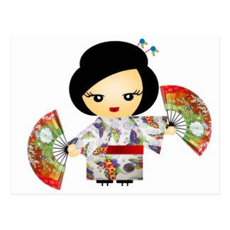 Headstock with Kimono Postcard