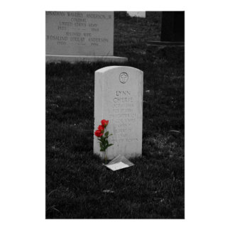 Headstone at Arlington Cemetary Washington, D.C. Poster