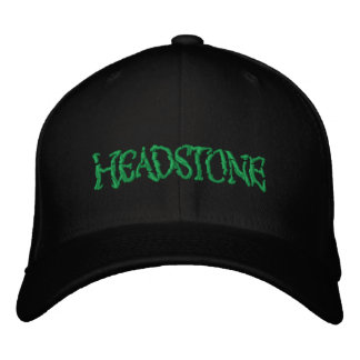 HEADSTONE Green Logo Embroidered Hat