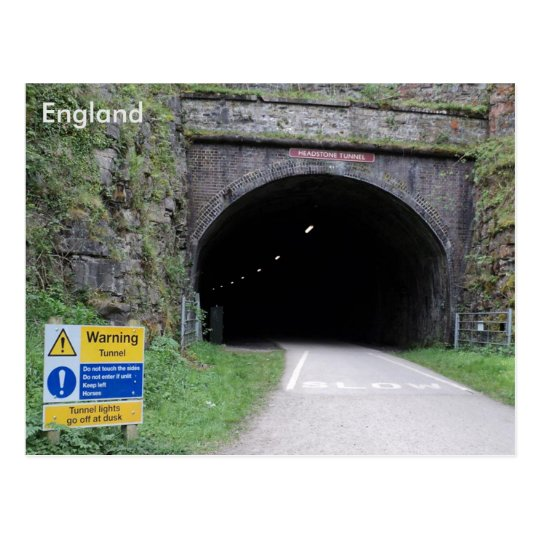 Headstone Tunnel, Derbyshire, England. Postcard