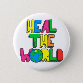 Heal the World 2 Inch Round Button