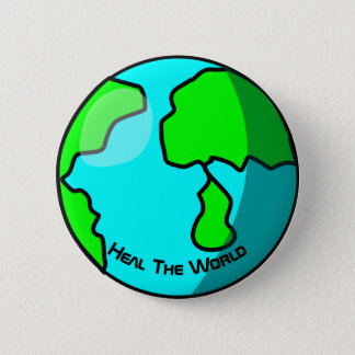 Heal the world Earth Photo Button