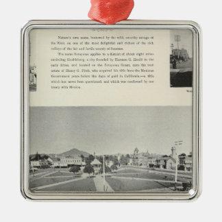 Healdsburg, California Silver-Colored Square Ornament