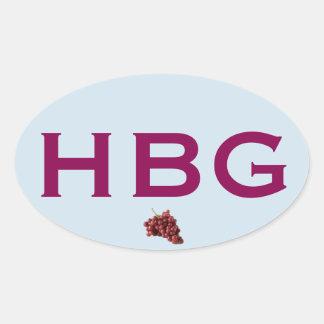 Healdsburg Euro-Style Oval Sticker