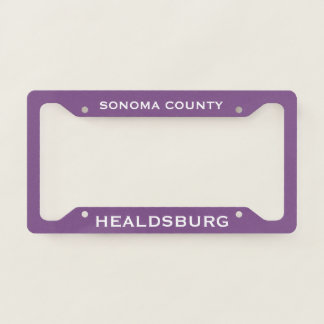 Healdsburg License Plate Frame