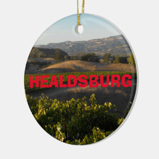 Healdsburg Wine Country Christmas Ornament