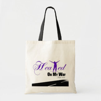 Healed on my Way (Purple, White, Black ) Tote