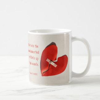 Healer of Broken Hearts Psalm 147:3 Scripture Art Coffee Mug