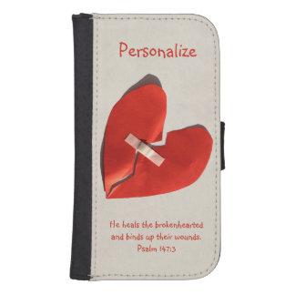 Healer of Broken Hearts Psalm 147:3 Scripture Art Galaxy S4 Wallet