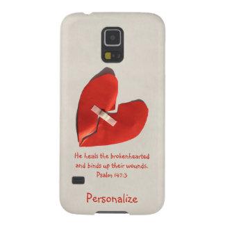 Healer of Broken Hearts Psalm 147:3 Scripture Art Galaxy S5 Cases