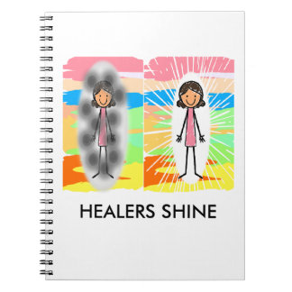 """HEALERS SHINE""  ♥ Spiral Noteb Notebook"