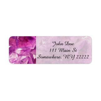 Healing Amethyst Gemstone Return Address Label