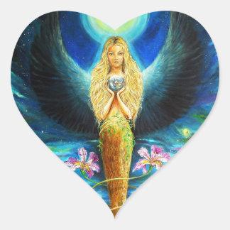 Healing Angel Heart Sticker