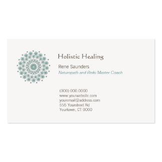 Healing Arts and Natural Healing Circle Logo Pack Of Standard Business Cards