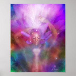 Healing Crown Chakra Art Poster/Print Poster