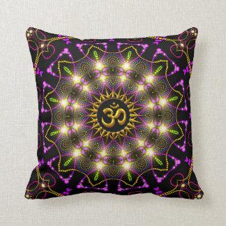 Healing Energy Geometric Mandala Om Symbol Pillow