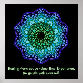 Healing from Abuse Mandala Inspirational Poster
