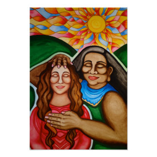 Healing from Mother Earth by Rita Loyd Poster