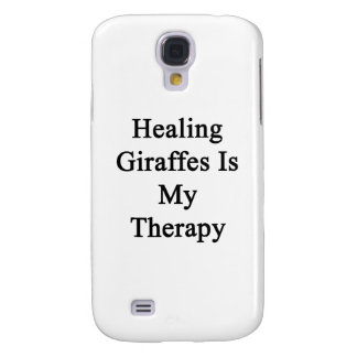 Healing Giraffes Is My Therapy Samsung Galaxy S4 Cover