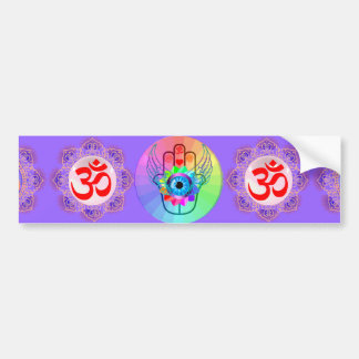 Healing Hamsa bumper sticker