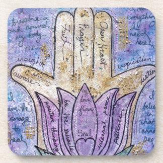 Healing Hamsa Coaster
