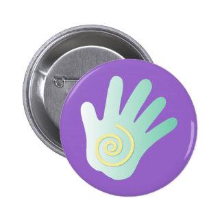 Healing Hand 2 Inch Round Button