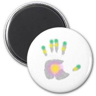 Healing Hand 2 Inch Round Magnet