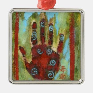 healing hand 8 christmas ornament