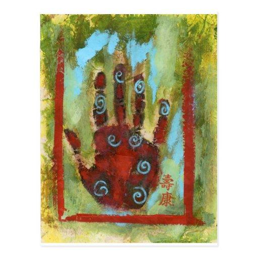 healing hand 8 postcard