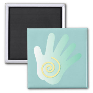 Healing Hand Square Magnet
