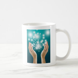 Healing hands 1 basic white mug