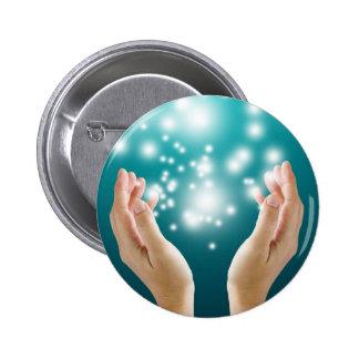 Healing hands 1 pinback buttons