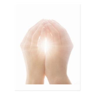 healing hands 2 postcard