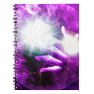 Healing hands 4 spiral notebook