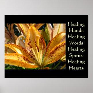 Healing Hands art Healing Words artwork prints Poster